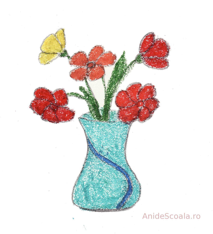 Sa Coloram O Vaza Cu Flori Anideșcoalăro