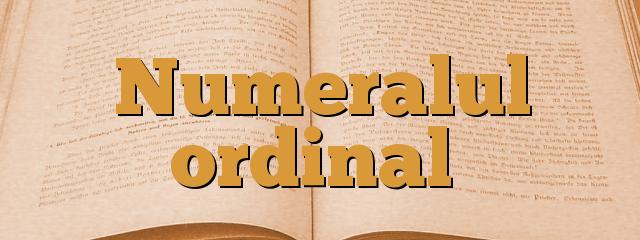 Numeralul ordinal
