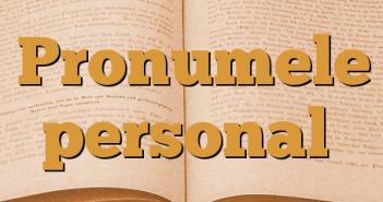 Pronumele personal