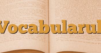 Vocabularul