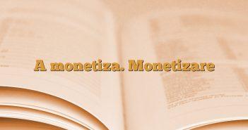 A monetiza. Monetizare