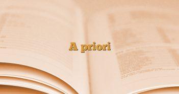 A priori