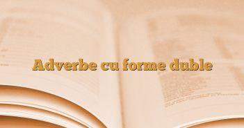 Adverbe cu forme duble