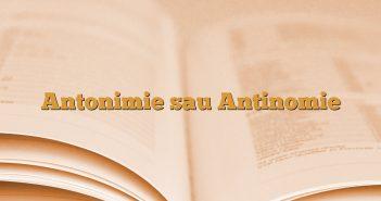 Antonimie sau Antinomie