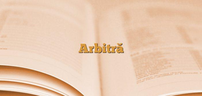 Arbitră