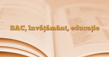 BAC, învăţământ, educaţie
