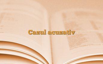 Cazul acuzativ