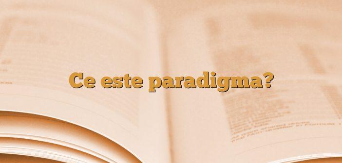 Ce este paradigma?