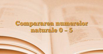 Compararea numerelor naturale 0 – 5