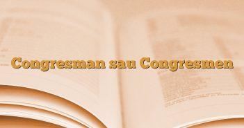 Congresman sau Congresmen