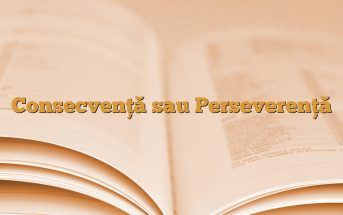 Consecvenţă sau Perseverenţă