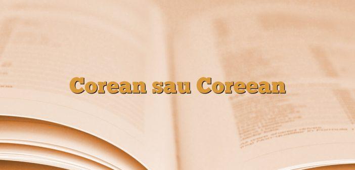 Corean sau Coreean