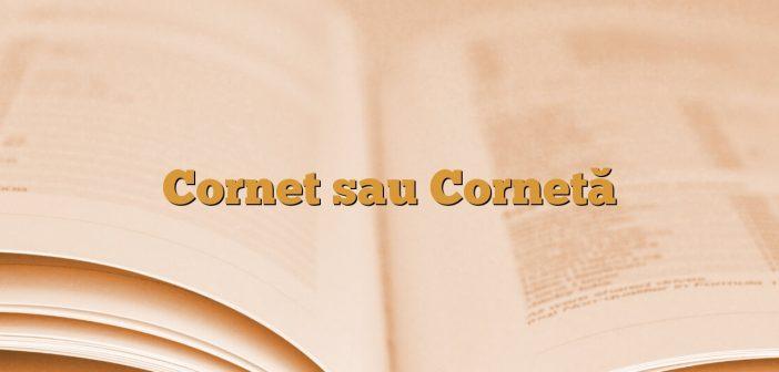 Cornet sau Cornetă