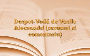 Despot-Vodă de Vasile Alecsandri (rezumat si comentariu)