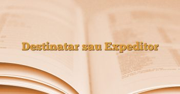 Destinatar sau Expeditor