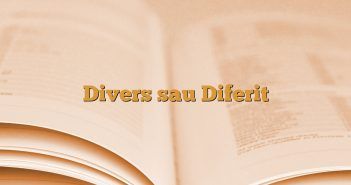 Divers sau Diferit