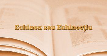Echinox sau Echinocțiu