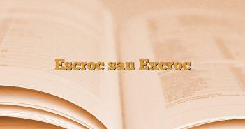 Escroc sau Excroc