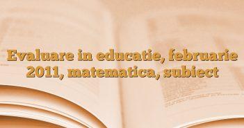 Evaluare in educatie, februarie 2011, matematica, subiect