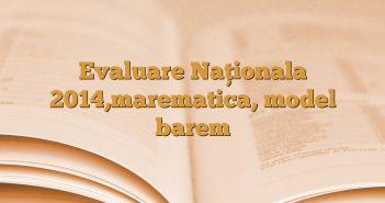 Evaluare Naţionala 2014,marematica, model barem