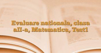 Evaluare nationala, clasa aII-a, Matematica, Test1