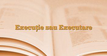 Execuţie sau Executare