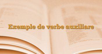 Exemple de verbe auxiliare