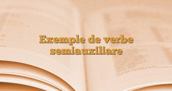 Exemple de verbe semiauxiliare
