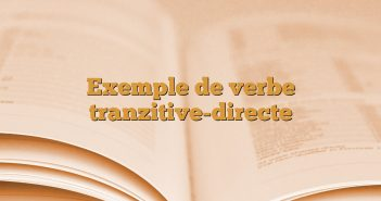 Exemple de verbe tranzitive-directe