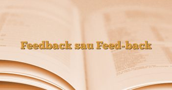 Feedback sau Feed-back