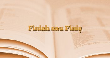 Finish sau Finiș