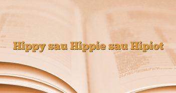 Hippy sau Hippie sau Hipiot