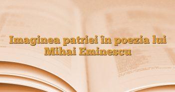 Imaginea patriei în poezia lui Mihai Eminescu
