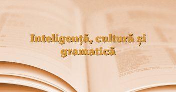 Inteligență, cultură și gramatică