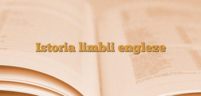 Istoria limbii engleze