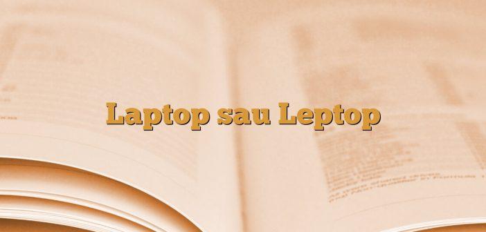 Laptop sau Leptop