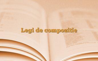 Legi de compozitie