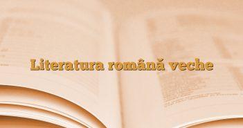 Literatura română veche