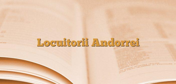 Locuitorii Andorrei