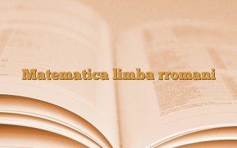 Matematica limba rromani