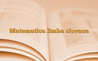 Matematica limba slovaca