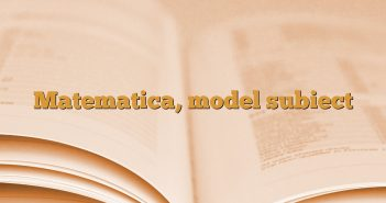 Matematica, model subiect