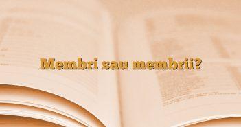 Membri sau membrii?