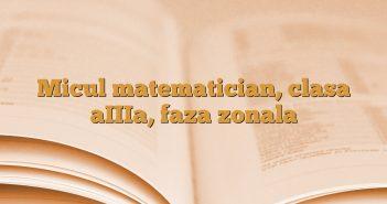 Micul matematician, clasa aIIIa, faza zonala