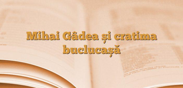 Mihai Gâdea și cratima buclucașă