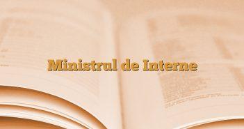 Ministrul de Interne