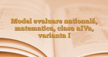 Model evaluare natională, matematica, clasa aIVa, varianta I