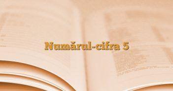 Numărul-cifra 5