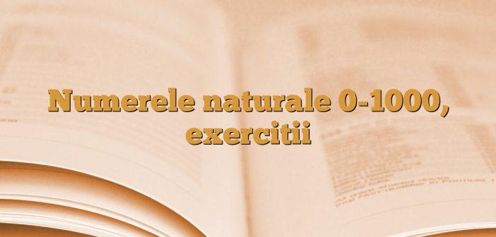 Numerele naturale 0-1000, exercitii