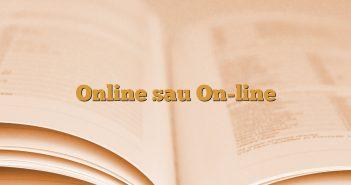 Online sau On-line